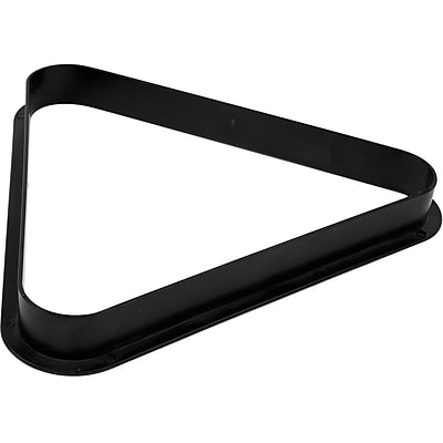 Trademark Games™ Eight Ball Plastic Billiard Black Triangle Rack