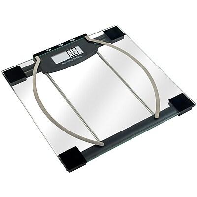 Trademark Remedy 72-6628B Digital Body Weight/Fat/Hydration Scale, Black/Clear