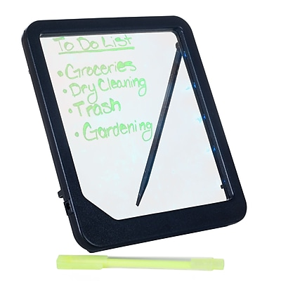 Trademark Glowing LED Writing Menu Blank Message Board, Black/Clear