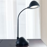 Trademark Lavish Home 3W Bright Energy Saving LED Desk Lamp, Black