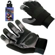 Trademark High Performance Spandex Mechanic Glove With Velcro, Medium