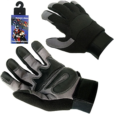 Trademark High Performance Spandex Mechanic Glove With Velcro, Small