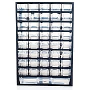 Trademark Stalwart™ Plastic 41 Compartment Hardware Storage Box, Black (886511418547)