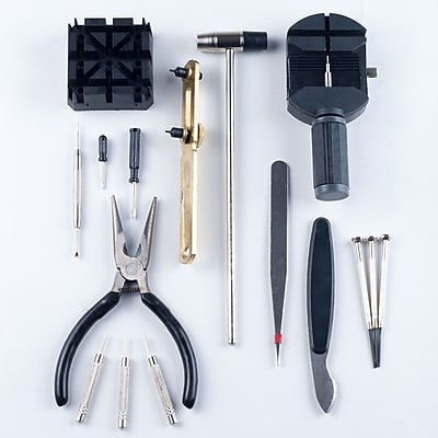 Trademark Stalwart™ Professional Watch Jewellery Repair Tool Kit, 16 Piece