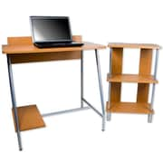 "Trademark Orispace ""Office In A Box"" Computer Desk/Bookcase Combo, Brown"