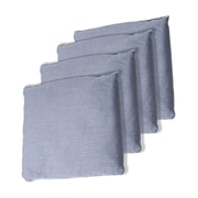 "Trademark Games™ 5"" x 5"" Championship Cornhole Bean Bags, Gray, 4/Set"