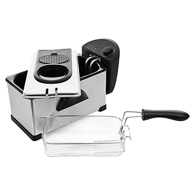 Chef Buddy™ Stainless Steel Electric Deep Fryer, 3.20 Quart