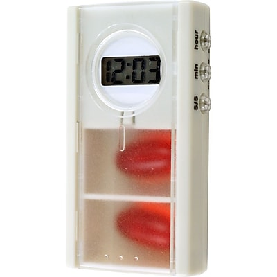 Trademark Remedy 80-HH044 Pill Box With Digital Timer and Alarm Reminder