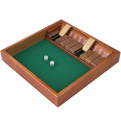 Trademark Games Zero Out Shut The Box (1 -10) Game With 2 Dice 1449575