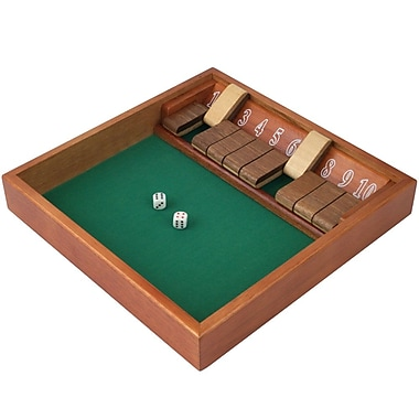 Trademark Games™ Zero Out Shut The Box (1 -10) Game With 2 Dice