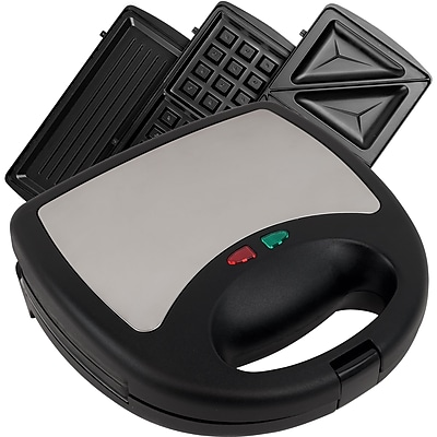 Trademark Chef Buddy™ 3-in-1 Sandwich / Panini and Waffle Press