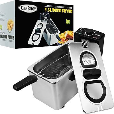Trademark Chef Buddy™ Stainless Steel Electric Deep Fryer, 3.5 Liter