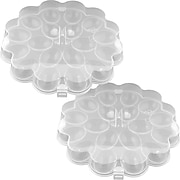 Trademark Chef Buddy™ Set of 2 Deviled Egg Trays With Snap On Lids, 36 Eggs (82-Y3458)