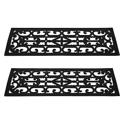 Trademark Pure Garden™ Non-Slip Stair Tread Mats Set; Black