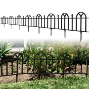 Trademark Pure Garden™ Victorian Garden Border Fencing Set, Black