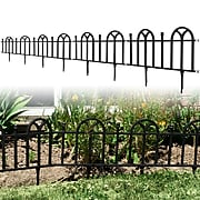 Trademark Pure Garden™ Victorian Garden Border Fencing Set; Black