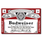 "Trademark Budweiser Vintage Ad ""Beverage Label"" Gallery-Wrapped Canvas Art, 18"" x 28"""
