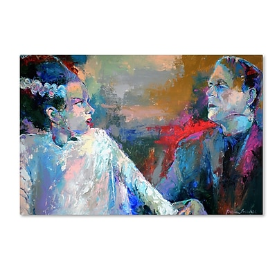 "Trademark Richard Wallich ""Frankenstein and His Wife"" Gallery-Wrapped Canvas Art, 12"" x 19"""