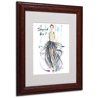 Trademark Jennifer Lilya White Matte With Wood Frame