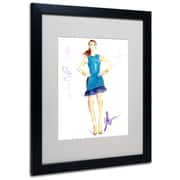 "Trademark Jennifer Lilya ""Tealing Beauty"" Art, White Matte With Black Frame, 16"" x 20"""