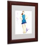 """Trademark Jennifer Lilya """"Tealing Beauty"""" Art, White Matte With Wood Frame, 11"""" x 14"""""""