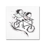 """Trademark Carla Martell """"Bike Kids"""" Gallery-Wrapped Canvas Art, 14"""" x 14"""""""