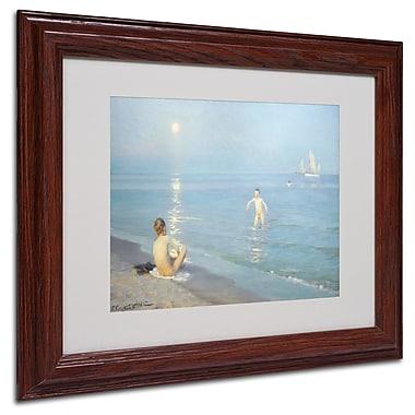 Trademark White Matte W/ Wood Frame
