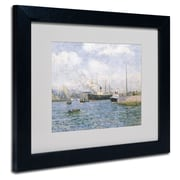 "Trademark Maxime Maufra White Matte W/Black Frame ""Departure from Havre 1905"" Arts"