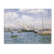 "Trademark Maxime Maufra ""Departure from Havre 1905"" Gallery-Wrapped Canvas Arts"