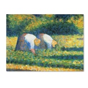 "Trademark Georges Seurat ""Farmers at Work 1882"" Gallery-Wrapped Canvas Art, 24"" x 32"""