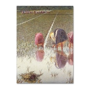 "Trademark Angelo Morbelli ""For Eighty Pennies"" Gallery-Wrapped Canvas Arts"