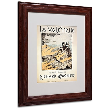 Trademark Richard Wagner White Matte With Wood Frame