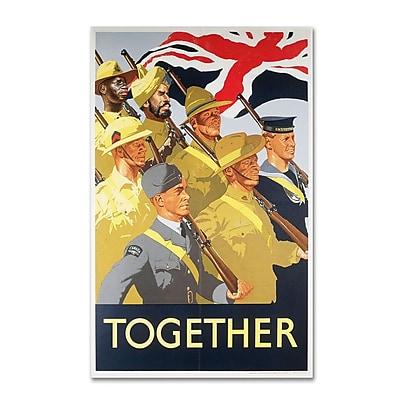 "Trademark ""Second World War Together Propaganda.."" Gallery-Wrapped Canvas Art, 22"" x 32"""