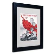 """Trademark """"Soviet Russian Poster For the.."""" Art, White Matte W/Black Frame, 11"""" x 14"""""""