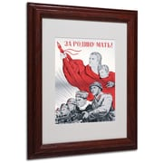"Trademark ""Soviet Russian Poster For the.."" Art, White Matte W/Wood Frame, 11"" x 14"""
