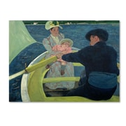 """Trademark Mary Cassatt """"The Boating Party 1893-94"""" Gallery-Wrapped Canvas Arts"""
