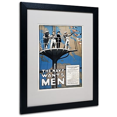 "Trademark ""Recruitment Poster for the Canadian.."" Art, White Matte W/Black Frame, 16"" x 20"""