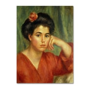 "Trademark Pierre Renoir ""Young Woman With a Rose 1907"" Gallery-Wrapped Canvas Art, 24"" x 32"""