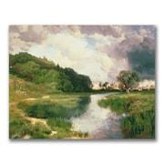 "Trademark Thomas Moran ""Approaching Storm Amagansett"" Gallery-Wrapped Canvas Art, 18"" x 24"""