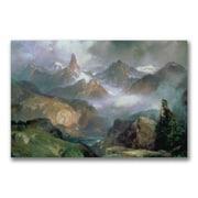 "Trademark Thomas Moran ""Index Peak Yellowstone"" Gallery-Wrapped Canvas Art, 22"" x 32"""