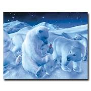 "Trademark Coke Vintage Ad ""Polar Bear Sitting with Cub..."" Gallery-Wrapped Canvas Art, 19"" x 24"""