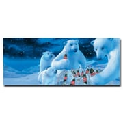 """Trademark Coke Vintage Ad """"Polar Bears with Nest..."""" Gallery-Wrapped Canvas Art, 13"""" x 22"""""""