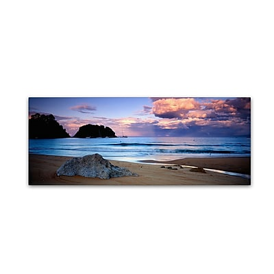 "Trademark David Evans ""Kaiteriteri Sunset"" Gallery-Wrapped Canvas Art, 16"" x 47"""