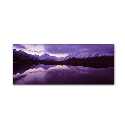 "Trademark David Evans ""Mount Cook from Tasman River-NZ"" Gallery-Wrapped Canvas Art, 10"" x 32"""