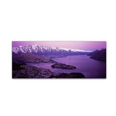 "Trademark David Evans ""Queenstown and The Remarkables-NZ"" Gallery-Wrapped Canvas Art, 16"" x 47"""