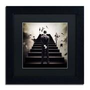 """Trademark Erik Brede """"Waiting for the Green Light"""" Art, Black Matte W/Black Frame, 11"""" x 11"""""""