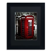 "Trademark Erik Brede ""Phone Home"" Art, Black Matte W/Black Frame, 11"" x 14"""