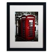 "Trademark Erik Brede ""Phone Home"" Art, White Matte W/Black Frame, 16"" x 20"""