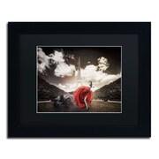 "Trademark Erik Brede ""Tango in Paris"" Art, Black Matte W/Black Frame, 11"" x 14"""