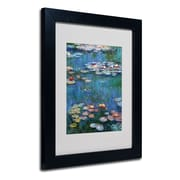"Trademark Claude Monet ""Waterlilies Classic"" Art, White Matte With Black Frame, 11"" x 14"""